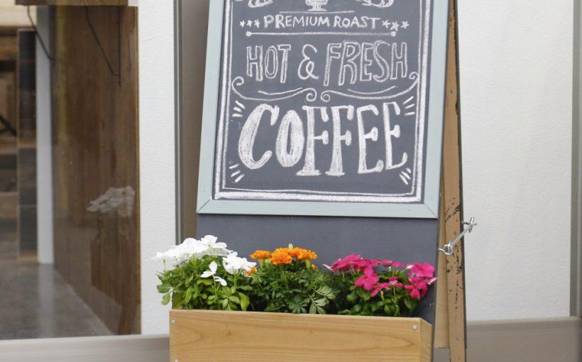 おしゃれなカフェ風看板の作り
