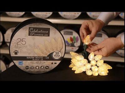 What makes the Celebrations Platinum LED Light Set so special?