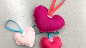 ep511 Valentine Felted Heart