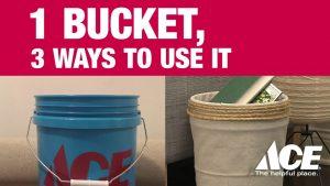 1 Bucket, 3 Ways To Use It