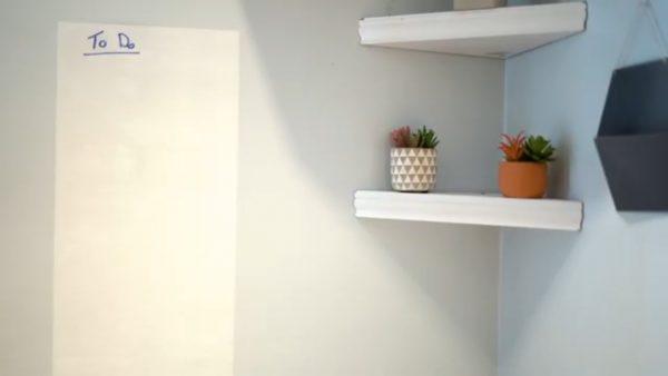 ホワイトボードの壁を作る方法