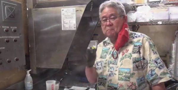 オニオン&グレービーソースのハンバーガー